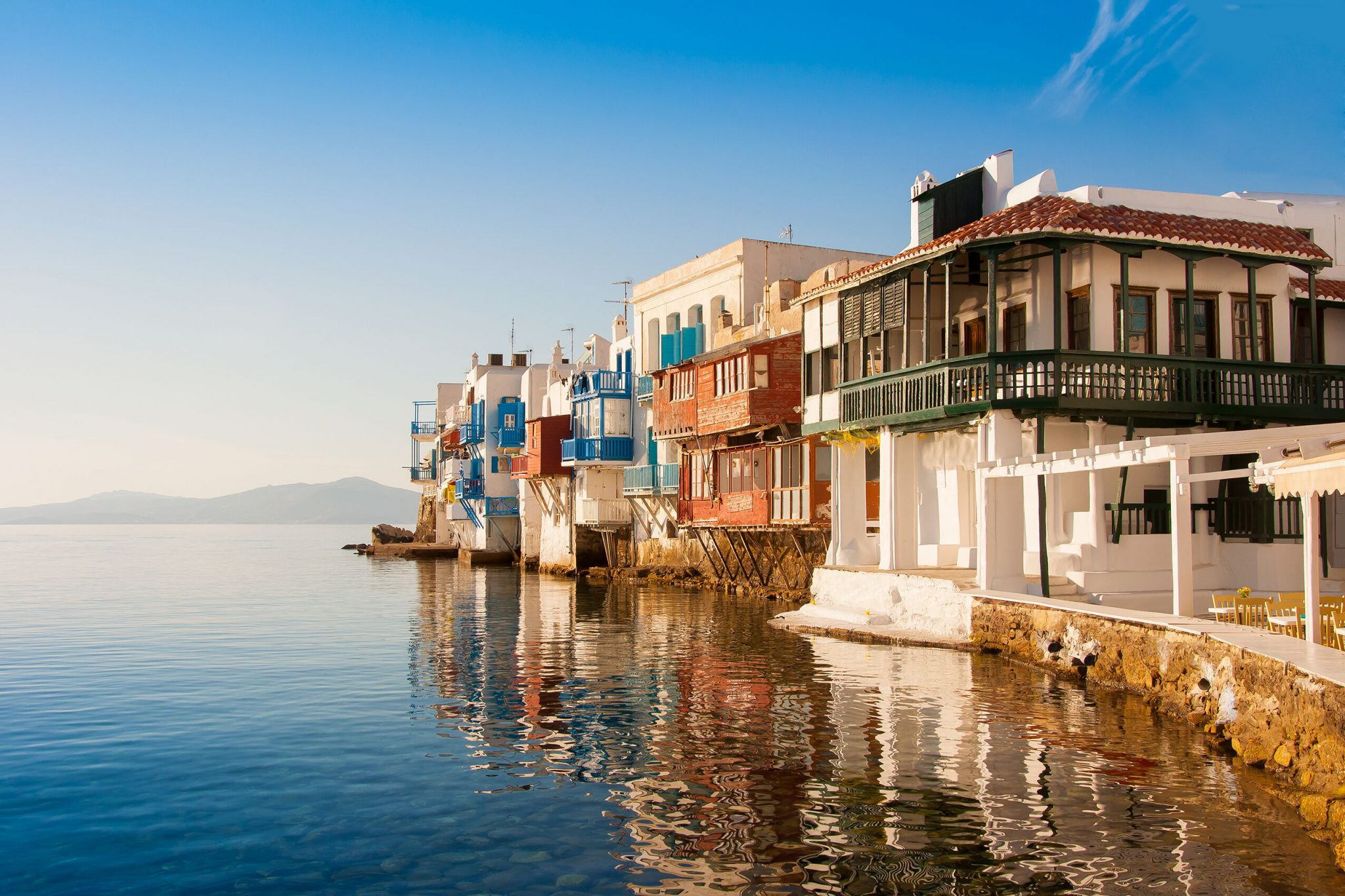 Mykonos In The Autumn Sun