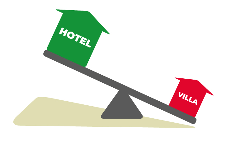 a villa can be much more affordable than a hotel