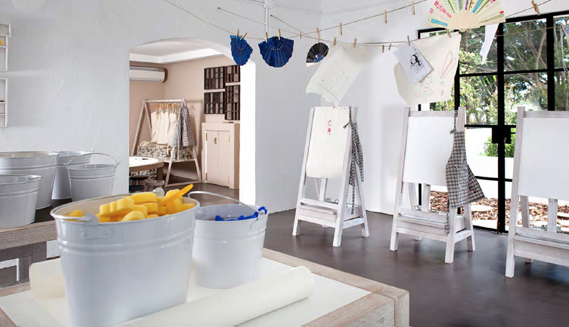 The art studio at the kids club in Marbella