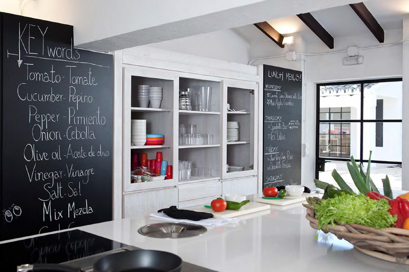 the kitchen at the kids club in Marbella