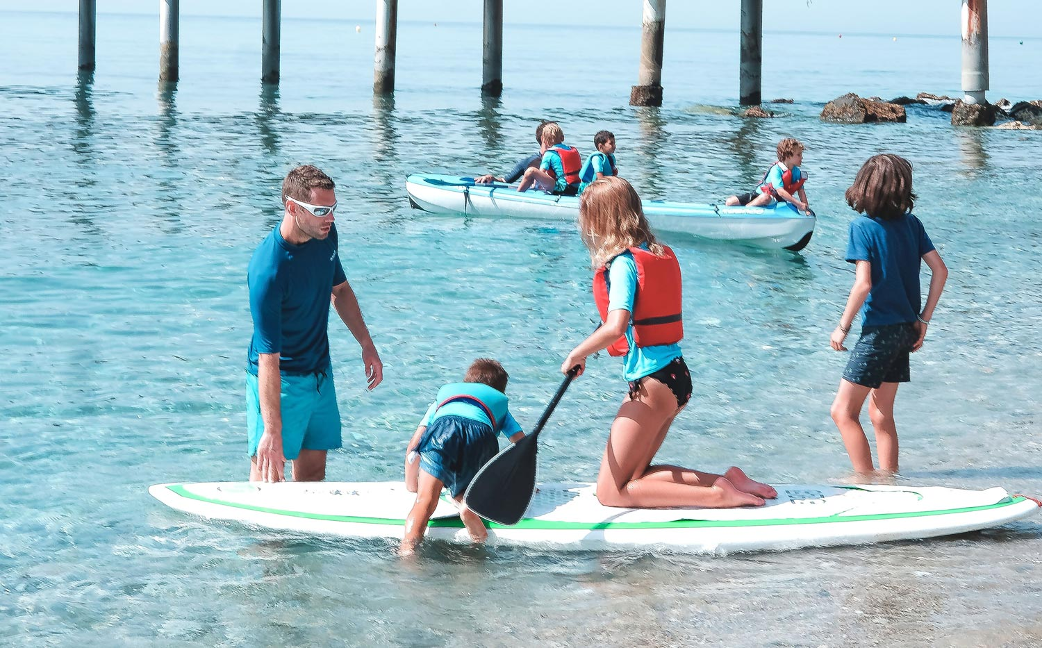 SUP activities at the kids club